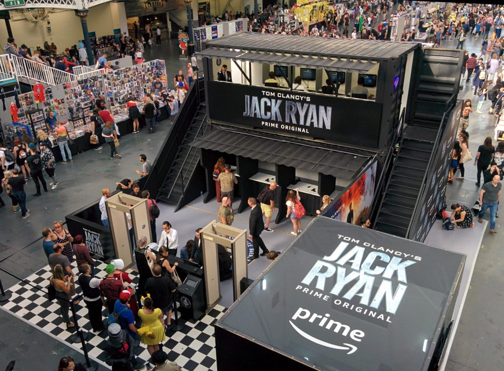 The Jack Ryan stand at Olympia, London