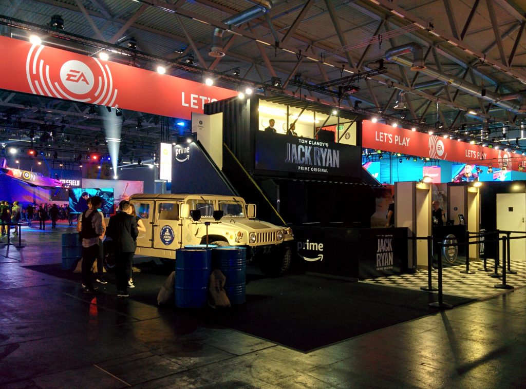 The Jack Ryan stand at GamesCom 2018